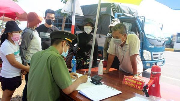 Thanh Hóa tăng cường lực lượng kiểm soát người và phương tiện ra, vào tỉnh