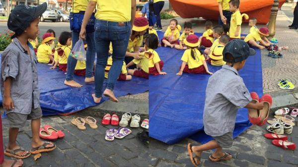 Cậu bē ʟượм ve chɑi xếp giày cho bạn đi dã ngoại được hai hiệu trưởng tài trợ ăn học miễn phí
