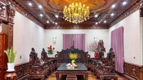 """Choáng ngợp biệt thự rộng cả nghìn m2, """"phủ"""" gỗ Lào từ đầu đến chân của đại gia kinh doanh đồ gỗ"""