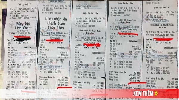 Một hộ có hoá đơn tiền điện 6 tháng liền giống hệt nhau