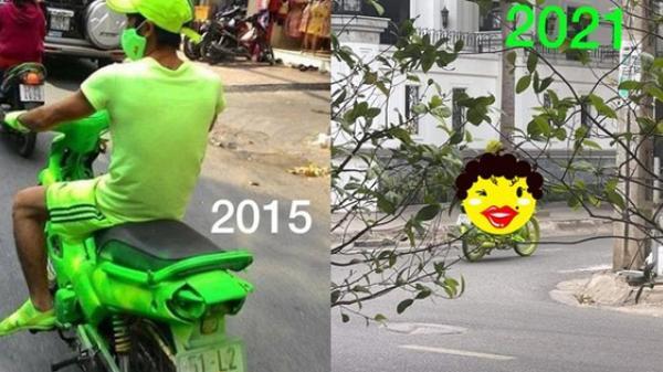 Thanh niên 6 năm trước diện cả cây xanh nõn chuối chạy xe ngoài đường khiến dân mạng lóa mắt, 6 năm sau còn gây xôn xao gấp bội phần