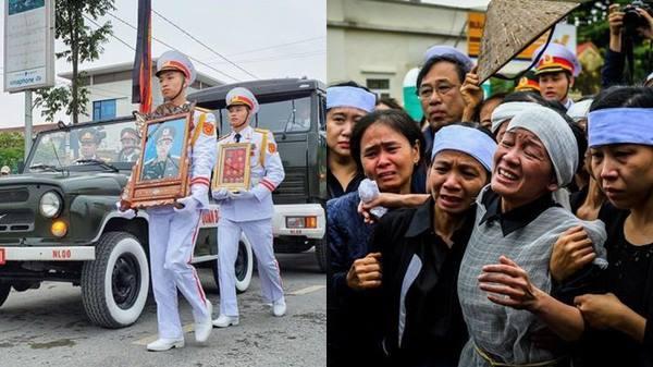 Lễ tang đẫm nước mắt ở quê nhà của Thiếu tướng hy sinh khi làm nhiệm vụ ở Rào Trăng 3