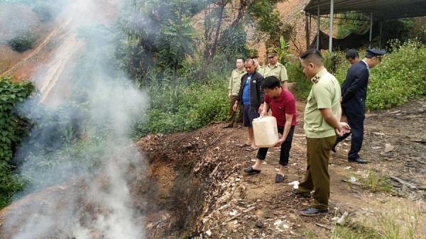 Cao Bằng: Tiêu hủy 62kg thủy sản sấy khô quý hiếm
