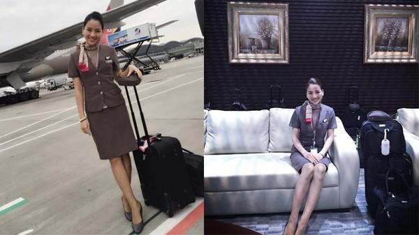 """Nữ tiếp viên hàng không gốc Thái Nguyên làm việc tại Hàn Quốc khiến dân tình phát """"sốt"""" với thu nhập khủng và ngoại hình xinh đẹp như hotgirl"""