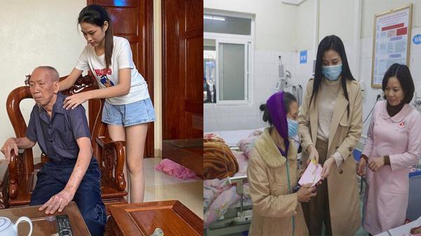 Ông nội nhập viện, Hoa hậu Đỗ Thị Hà lập tức về quê nhà kèm lời nhắn nhủ khiến ai cũng xúc động