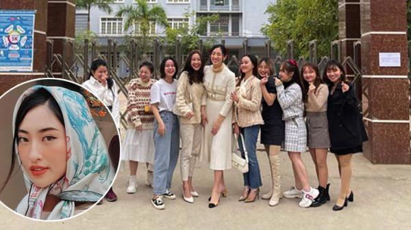 """Hội ngộ ʙạɴ ᴄấᴘ 3 ở Cao Bằng, Lương Thùy Linh """"ʜóᴀ ᴋʜổɴɢ ʟồ"""" vì quá cao"""