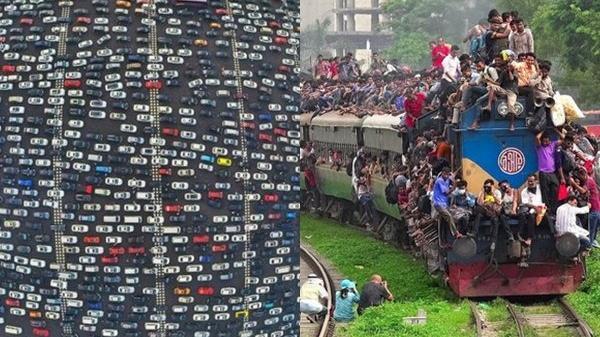 """Hình ảnh tắc đường ƙinɦ hoànɠ trên thế giới, Việt Nam vẫn chưa """"ăn thuɑ"""" gì so với anh em bạn dì"""