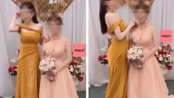 """Ăn mặc trang trọng, trang điểm lộng lẫy đi đám cưới, cô gái nhận """"cơn mưa"""" chỉ trích vì một lý do"""