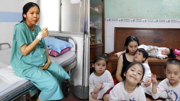 """Mẹ sinh 5 duy nhất ở Việt Nam: Chăm con vất vả, 8 năm vợ chồng chưa """"sinh hoạt"""" lại"""