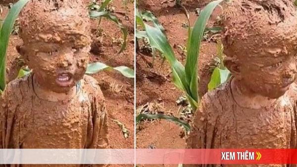 """Đang yên đang lành thì """"đồng ruộng tự nhiên va vào người"""", cậu bé nâu từ đầu đến chân như thỏi socola đang chảy nước"""