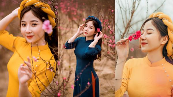Nữ sinh Báo chí quê Tuyên Quang xúng xính áo dài đón Xuân sang