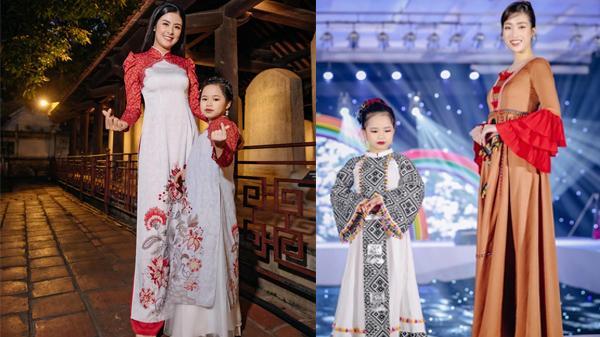 Á hậu nhí 9 tuổi quê Hải Phòng tự tin trình diễn với Hoa hậu Ngọc Hân, NSND Thu Hà